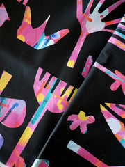 Neon Natives (Black Background) FABRIC - lordydordie