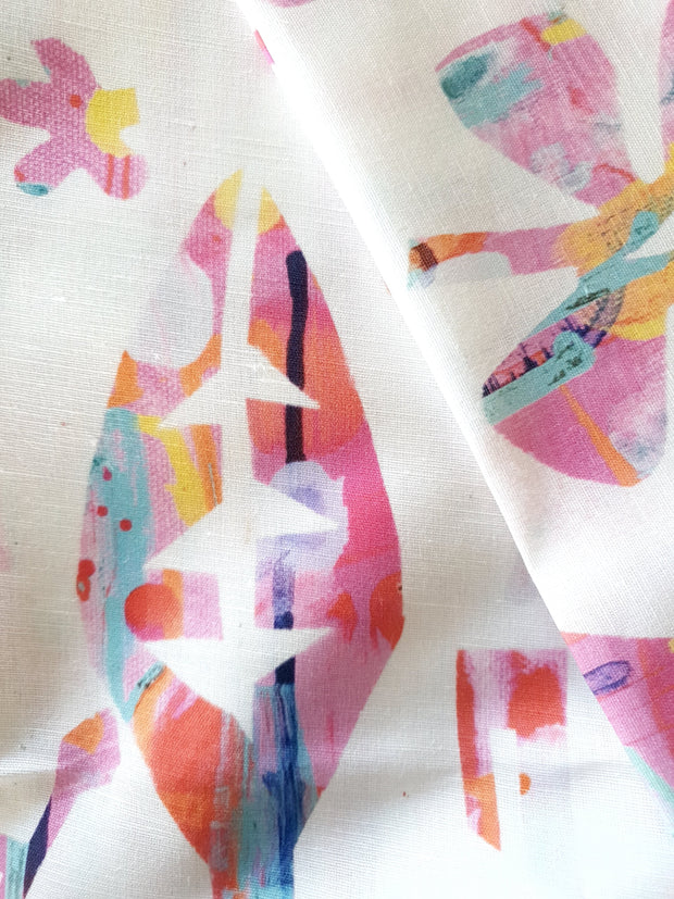 Neon Natives (White Background) FABRIC - Lordy Dordie Art