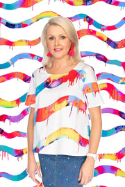 Neon Stripe A-line Top - lordydordie
