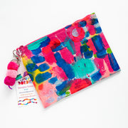 CORAL ILSE Canvas Art Clutch - #1 of 9 - Lordy Dordie Art