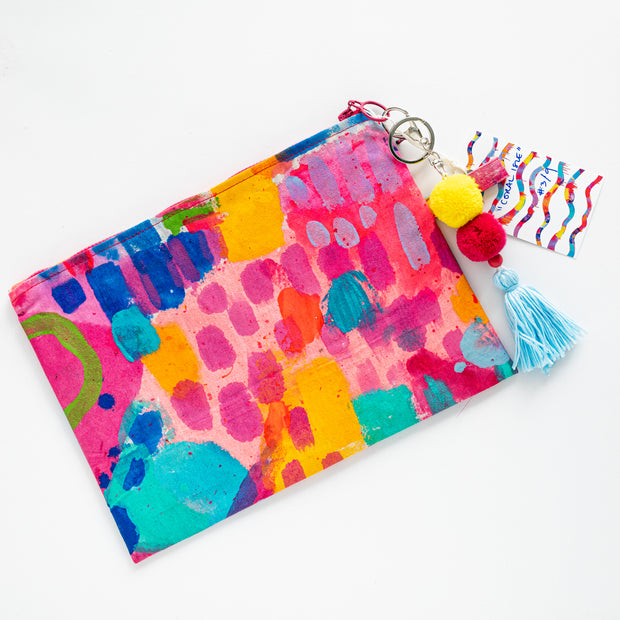 CORAL ILSE Canvas Art Clutch - #3 of 9 - lordydordie
