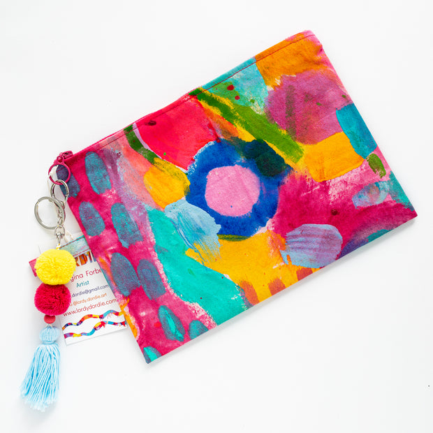 CORAL ILSE Canvas Art Clutch - #3 of 9 - Lordy Dordie Art