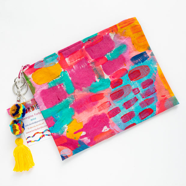 CORAL ILSE Canvas Art Clutch - #4 of 9 - Lordy Dordie Art
