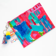 CORAL ILSE Canvas Art Clutch - #5 of 9 - Lordy Dordie Art