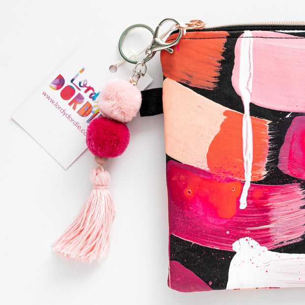 PINK SUNSET Art Clutch - #6 of 6 - Lordy Dordie Art