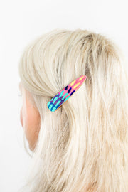 Art Hair Clips - made from artwork offcuts - lordydordie