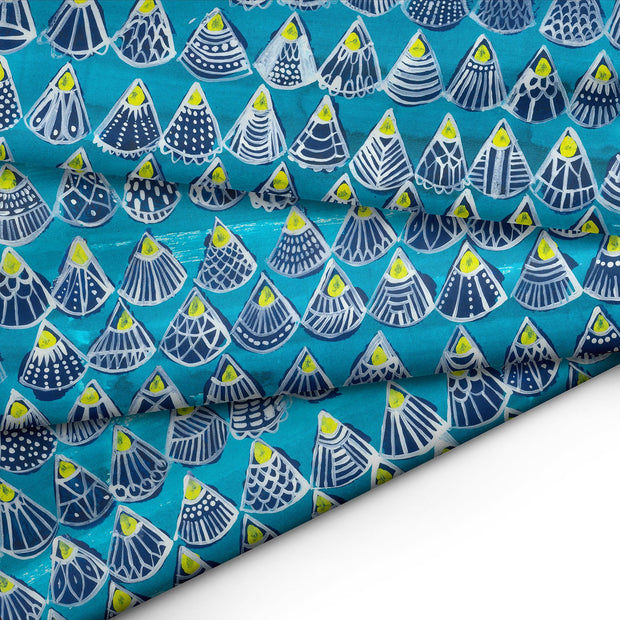 She sells Seashells FABRIC - Lordy Dordie Art
