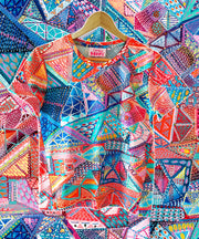 Patchwork - BOXY ART TEE - Lordy Dordie Art