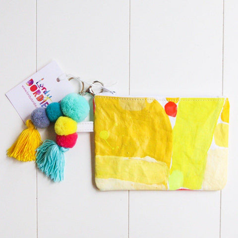 Small HERE COMES THE SUN Art Clutch - #5 of 7 - Lordy Dordie Art