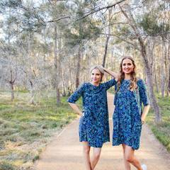 Wattle You Do (Navy) FABRIC - lordydordie