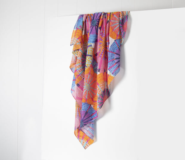 Wrap / Scarf - Sunshine Flowers - Lordy Dordie Art