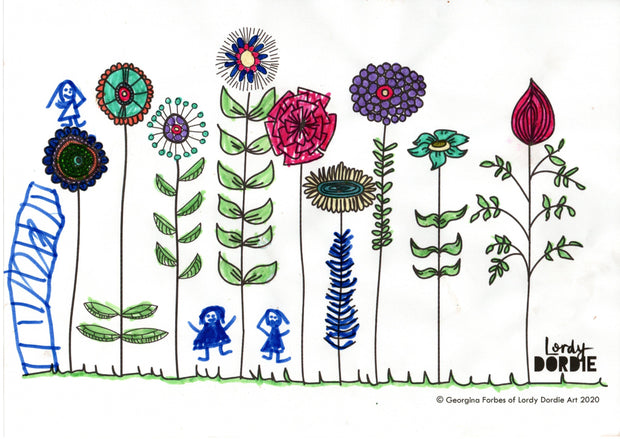 Wildflowers - FREE A4 Colouring In Sheet PDF - Lordy Dordie Art