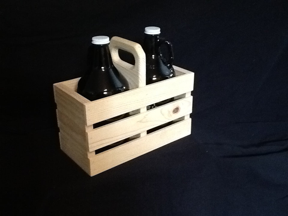 Beer Growler - 2 Pack Wooden Crate