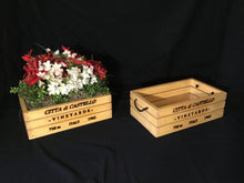Load image into Gallery viewer, Wooden Crate - Wine Theme Flower Planter