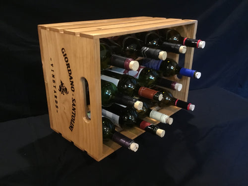 Wooden Crate Wine Rack