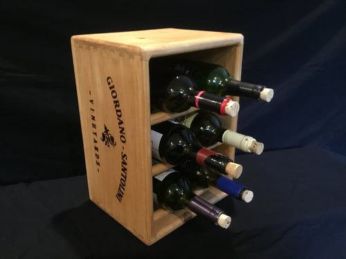 Wine Rack - Wooden 6 Bottle