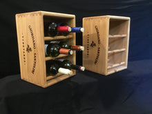 Load image into Gallery viewer, Wine Rack - Wooden 6 Bottle