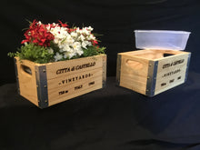 Load image into Gallery viewer, Wooden Crate - Wine Box Deco