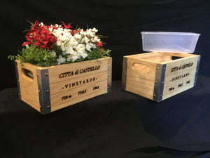 Wooden Crate - Wine Box Deco