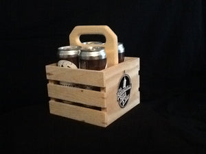 Beer Crowler - 4 Pack Wooden Crate