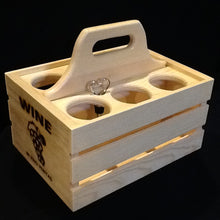 Load image into Gallery viewer, Wooden Party Crate - Wine Glass & Bottle Holder