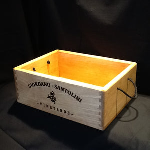 Wooden Wine Crate - Dovetail Corners