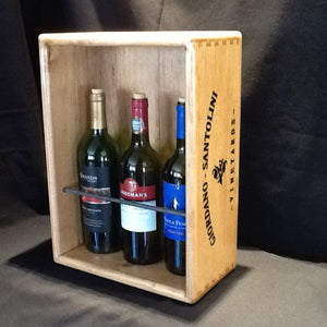 Wine Rack - Upright 3-Wine Bottle Holder
