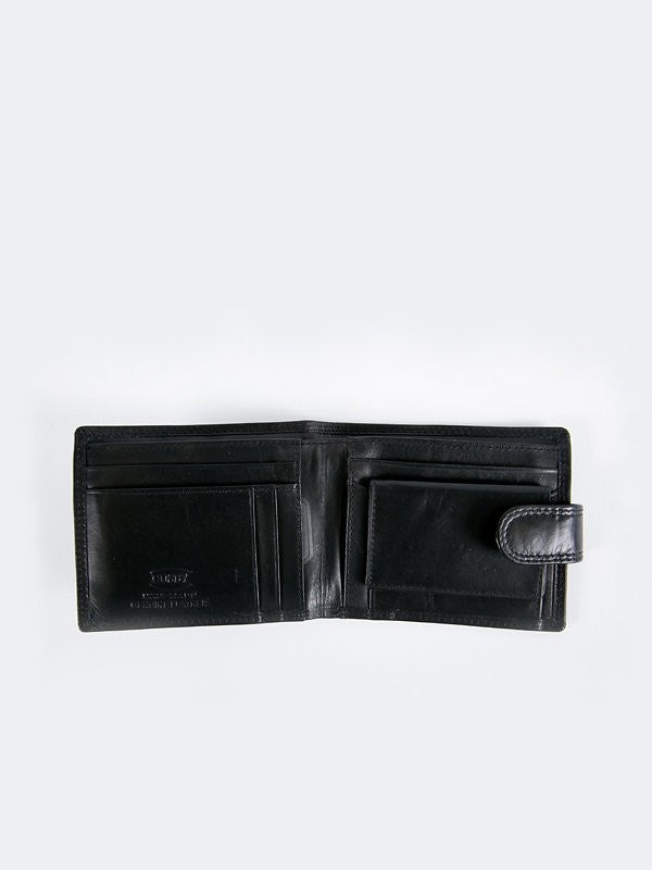 Busby Leather Tuscany Tabbed Billfold | Black
