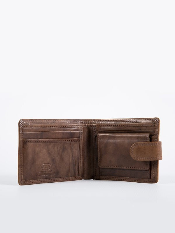 Busby Leather Tuscany Tabbed Billfold | Brown
