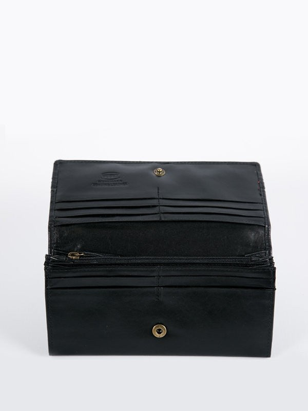 Busby Leather Tuscany Clutch Purse | Black