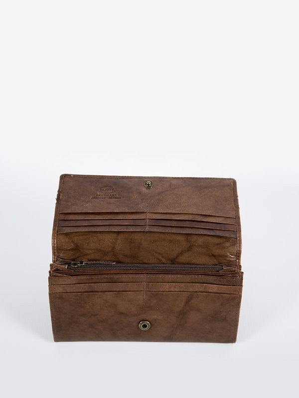 Busby Leather Tuscany Clutch Purse | Brown