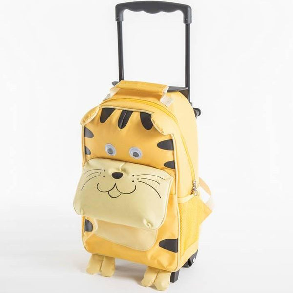 Yuppie Gift Baskets Kids Tiger School Trolley Case | Yellow - KaryKase