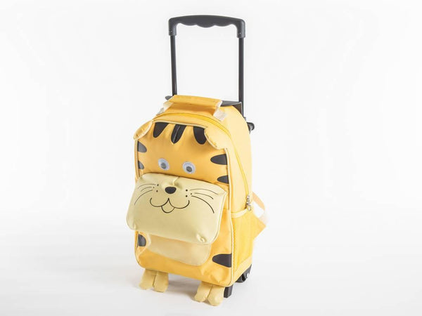 Yuppie Gift Baskets Kids Tiger School Trolley Combo | Yellow - KaryKase