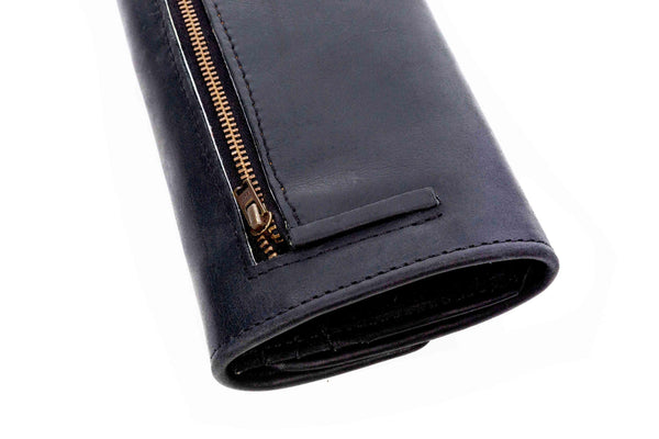 Tan Leather Goods - Lauren Leather Ladies Wallet | Black - KaryKase
