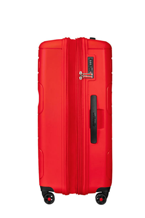 American Tourister Sunside 77cm Large Spinner - Expandable | Sunset Red - KaryKase