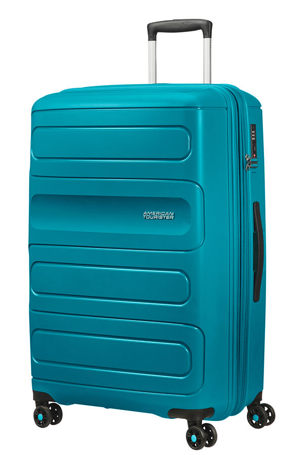 American Tourister Sunside 77cm Large Spinner - Expandable | Teal - KaryKase