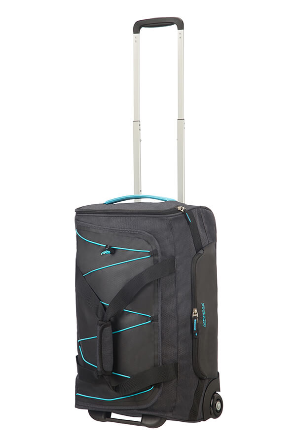 American Tourister Road Quest Wheeled Duffle (S) 55cm | Graphite/Turquoise - KaryKase