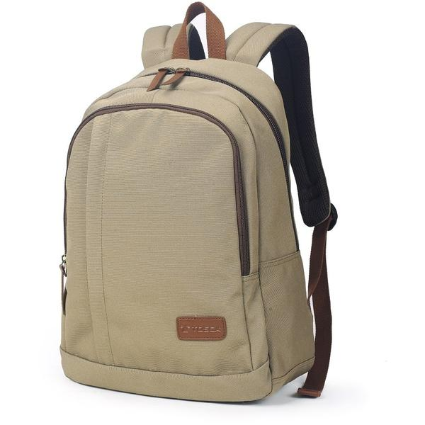 Tosca 14 inch Canvas Backpack | Khaki - KaryKase