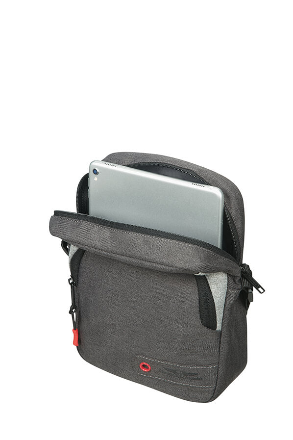 American Tourister City Aim Crossover Bag | Anthracite Grey - KaryKase