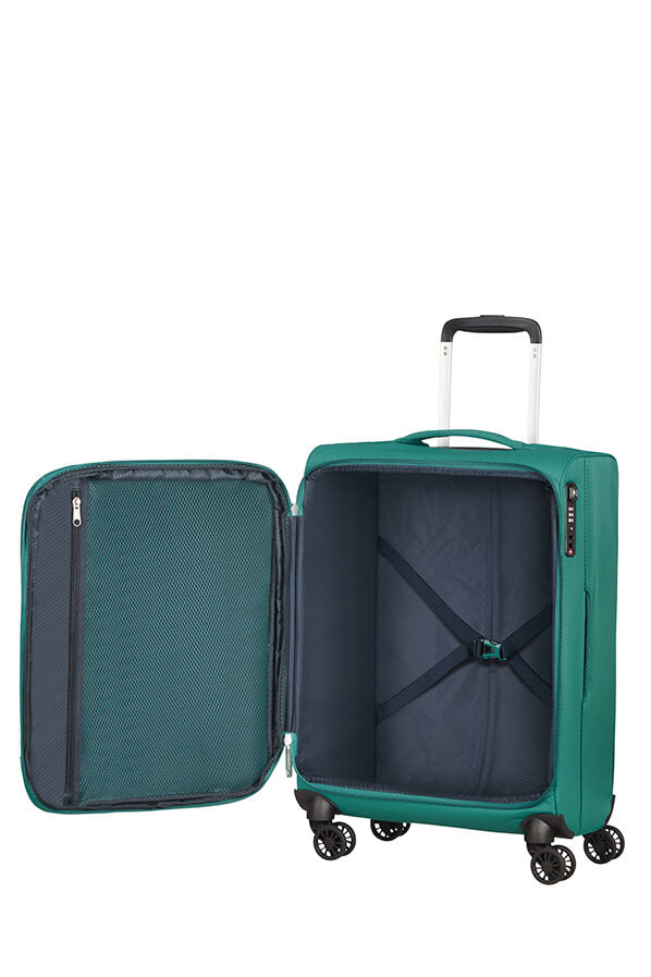 American Tourister Lite Ray 55cm Cabin Spinner - Expandable | Forest Green - KaryKase
