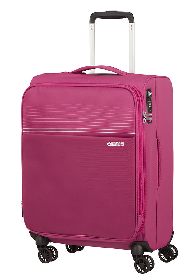 American Tourister Lite Ray 55cm Cabin Spinner - Expandable | Magenta Haze - KaryKase