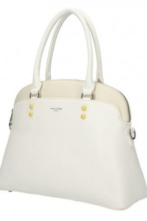 David Jones Vicky Dome Handbag | White - KaryKase
