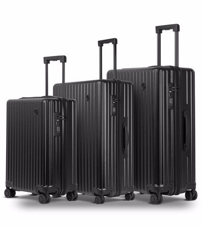 Conwood Globus 3 Piece Lugagge Set | Black - KaryKase