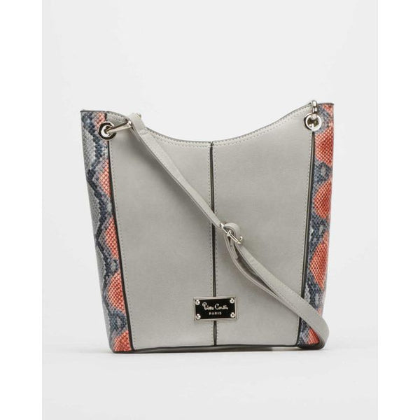 Pierre Cardin Lacey Structured Crossbody Bag | Grey - KaryKase
