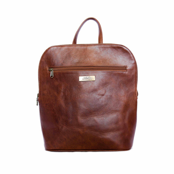 Mally Traveler Leather Backpack | Brown