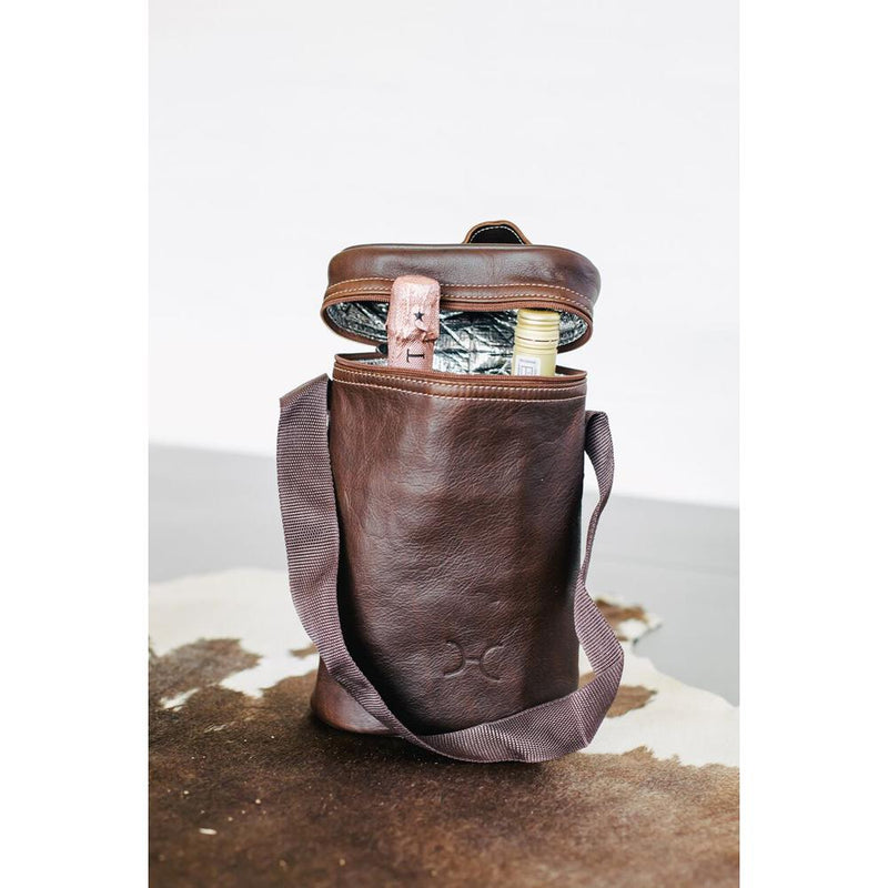 Thandana Leather Wine Cooler Double Carry Bag - KaryKase