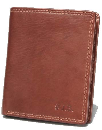 Johnny Black Bavaria 12CC Stud Closure Leather Wallet - RFID | Brown - KaryKase