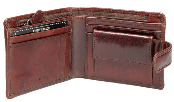 Johnny Black Berlin 6CC Polished Leather Wallet - RFID | Brown - KaryKase