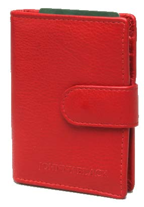 Johnny Black Nappa Leather Credit Card Holder | Red - KaryKase