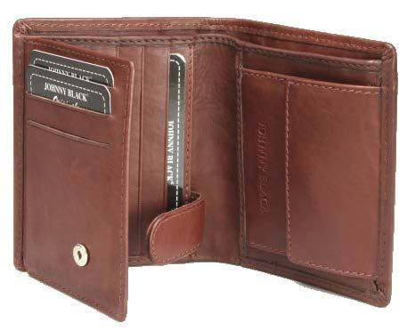 Johnny Black Bavaria Mini 6CC Leather Wallet - RFID | Brown - KaryKase